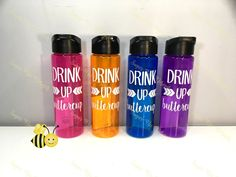 Daily Water Tracker / Water Intake Tracker / Track your water / Drink Up Buttercup / Water bottle for yoga by SugarBeeDesignsSC on Etsy