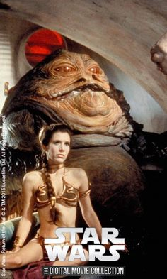 Jabba the Hut and Princess Leia from Star Wars: Return of the Jedi. Watch every episode with Star Wars: The Digital Movie Collection.