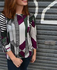 Alexa T-Top - Sewing Patterns - Tessuti Fabrics - Online Fabric Store - Cotton, Linen, Silk, Bridal & more