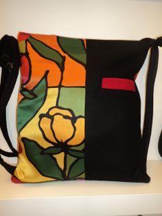 mochila hecha a mano con seda y lana. pieza unica.