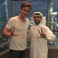 「with #chrispine he is in #Dubai for holiday @chris_pine_official #mydubai…