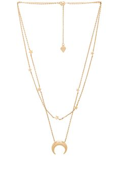 f88514d37f8 Shop for Wanderlust + Co Crescent   Constellation Necklace in Gold at  REVOLVE. Free day shipping and returns