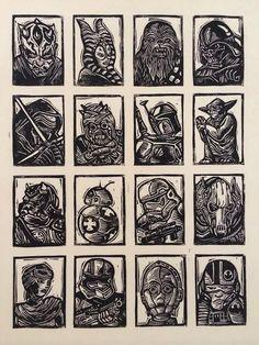 Star Wars Sampler Block Print