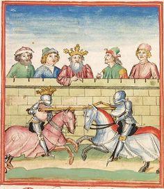 Pontus und Sidonia — Stuttgart (?) - Werkstatt Ludwig Henfflin, um 1475 Cod. Pal. germ. 142 Folio 21r