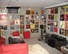 using record covers as wall art