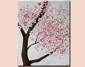 Flower painting,cherry blossom,  nature cherry tree blossoms ,blossoming tree,floral painting,Original Painting,Acrylic Painting,