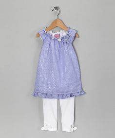 Take a look at this Nicole Miller Lavender Tunic & Leggings - Toddler by Sprinkled in Pink: Girls' Apparel on #zulily today!
