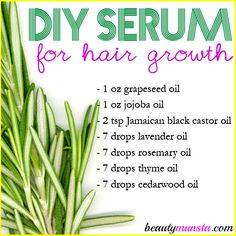 Remedies For Thicker Hair Healthy long hair is just a serum away! Make this homemade serum for hair growth and thickness! - Make this non-flaky, non-clumpy diy mascara with activated charcoal at home! It works! Hair Remedies For Growth, Hair Growth Treatment, Hair Growth Tips, Hair Loss Remedies, Diy Hair Growth Serum, Hair Growth Recipes, Herbs For Hair Growth, Hair Growth Shampoo, Healthy Hair Growth