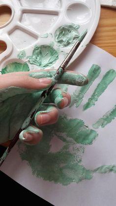 #pain#green#hand
