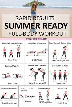 Get summer body fast! This full body fat burner workout will fast track your sum… Get summer body fast! This full body fat burner workout will fast track your summer body. You'll be in sexy shape to flaunt that bikini… Continue Reading → Summer Body Workouts, Full Body Workout Routine, Full Body Workout At Home, At Home Workout Plan, Workout Challenge, At Home Workouts For Women Full Body, Beginner Full Body Workout, Bikini Body Workouts, Summer Workout Plan