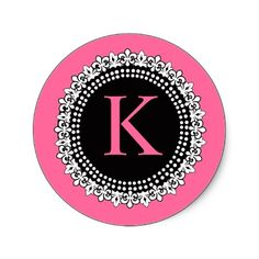 pink with black letter K