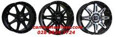 More big bad wheels for big bad 4x4's. 028 3834 3724.  Suitable for- Ford Ranger, Fiat Fullback, Toyota Hi-Lux, MITSUBISHI L200, Mitsubishi Pajero, L200, Challenger, Shogun, Plus many more fitments.