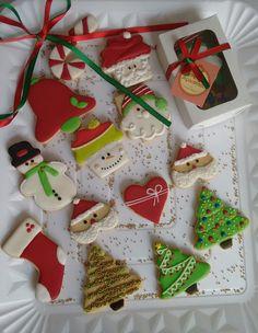 Biscoitos Decorados Natal | Empório Açucarado | Elo7