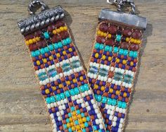 Bead woven bracelets Native American by Adornments925 on Etsy