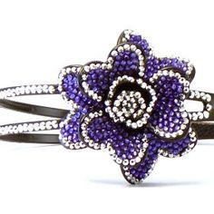 Rhinestone Headband  #Flower #Headband #Purple #Flower  $19.99