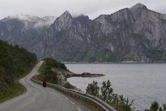 The road to Mefjordvær on Senja Island. Lofoten, Norway, Island, Mountains, Nature, Travel, Naturaleza, Viajes, Islands