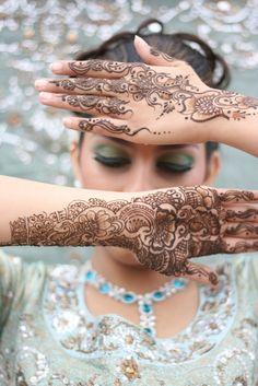 Indian Mehndi bridal henna tattoos.