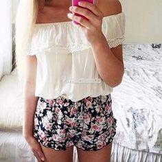 Sexy-Women-SUMMER-Lace-Off-Shoulder-Crop-Tops-T-shirt-Beach-Tee-Blouse-Shirts-W3
