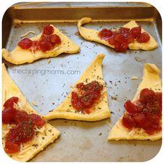 Tomato Basil & Mozzarella Bites  Easy holiday crescent roll recipe