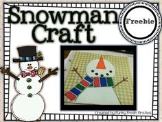 Snowman Craft Freebie - Hope you enjoy. a quick and painless craft to do with the kiddos using shapes. Create an uber-cute snowman. perfect for pairing with student writing/work samples. or just as a cute hallway display! Christmas Activities, Winter Activities, Classroom Activities, Craft Activities, Classroom Ideas, Winter Crafts For Kids, Winter Kids, Winter Holidays, Cute Snowman