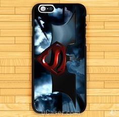 Batman vs Superman Logo poster iPhone Cases Case