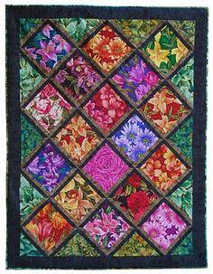 Flower Garden Quilt - Janet D   Quilting   Pinterest   Scrappy quilts : flower quilt patterns beginners - Adamdwight.com