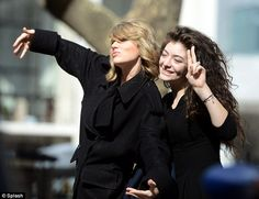Lorde Coolest Teen: http://www.hollywood.com/news/celebrities/58787756/lorde-coolest-teenager-ever?page=all .........  Special relationship: Taylor Swift and Lorde were snapped togetheron the streets of Manhattan