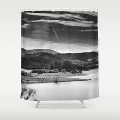Expectant Shower Curtain by Guido Montañés - $68.00