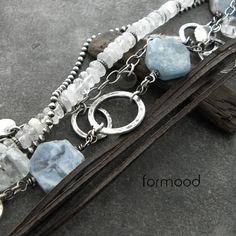 akwamaryn - zestaw 2 bransoletek Biżuteria Bransolety formood