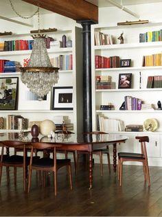 Soho loft dining room via @DwellStudio #soho #nyc #dining