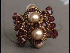 Sidonia's handmade jewelry - Beaded Bead Tutorial - YouTube
