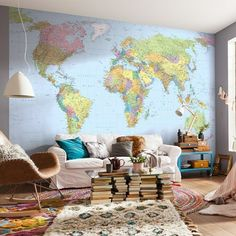 World Map Color XXL4-038