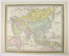 Nice Vintage Map Of Russia In 1886 Elegant In Style Maps, Atlases & Globes
