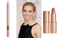 Oscars 2015- Charlotte Tilbury gave Sienna Miller this gorgeous pout with Charlotte Tilbury Lip Cheat Lip Liner in Pillow Talk ($22) to mimic the pigment of Miller's lips. Then Tilburry filled in the rest of the lip with K.I.S.S.I.N.G Lipstick in Bitch Perfect ($32).