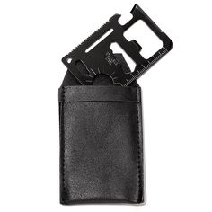 """http://jgoertzen.avonrepresentative.com/   11-in-1 Credit Card-Size Tool-- The ultimate survival buddy! This thin, sleek tool functions as 11 different tools. Comes with a pouch. 2 3/4"""" L x 1 3/4"""" H. Metal. Imported.  The 11 Functions are: -Can Opener -Saw -Butterfly screw wrench -2-position wrench -Key chain hole -Screwdriver -Knife -Bottle Opener -4-position wrench -Ruler -Sun Compass"""