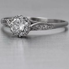 vintage engagement ring...one of the few ones I like on here- not waaayyy over the top