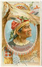 Old Sleepy Eye Indian Flour Advertising Postcard 1907