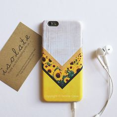 Floral iphone 6 case sunflower floral iPhone 5s por IsolateCase