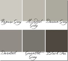 Sherwin Williams - greys to check out love this palette