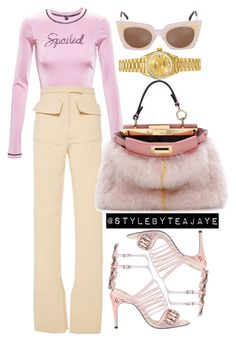 """""""Untitled #1823"""" by stylebyteajaye ❤ liked on Polyvore featuring Adam Selman, J.W. Anderson, Fendi and Rolex"""