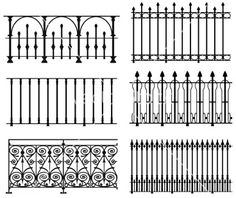 wrought iron fence | decorative elements | Pinterest | Wrought ...