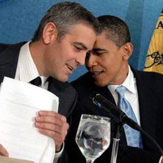 George Clooney & President Barack Obama