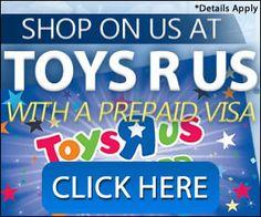 Get a FREE Pre-paid Toys R Us Visa Card  #xmas #gift #free