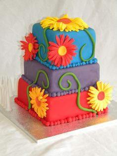"cake+central+gallery | this was my stepdaughters 10th birthday cake.it was a 6"", 5"" & 4 ..."