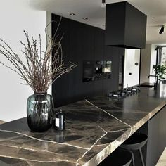 Projects RhijnArt kitchens by Kesteren idesdecuisinemoderne Rustic Kitchen Design, Luxury Kitchen Design, Kitchen Room Design, Home Decor Kitchen, Modern House Design, Room Interior, Interior Design Living Room, Kitchen Modern, Cuisines Design