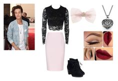"""""""Cameron Dallas Girl Outfit #5"""" by maddiemae121999 ❤ liked on Polyvore featuring Bec & Bridge, Finders Keepers, Clarks and Capelli New York"""