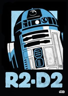 r2d2 droid poster star wars lucas starwarsicons