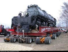 sometimes you gotta have a truck.Net Photo: UP 4023 Union Pacific Steam at Omaha, Nebraska by Paul M. Union Pacific Railroad, Railroad Photography, Train Times, Road Train, Train Pictures, Steam Engine, Steam Locomotive, Train Tracks, Heavy Equipment
