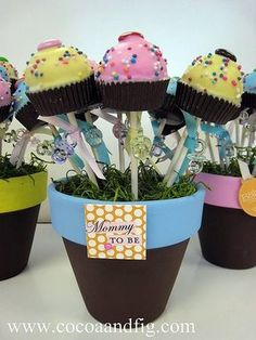 cocoa & fig: Baby Shower Peanut Butter Pops