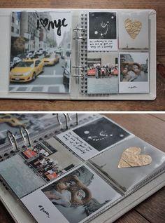 Ideas Travel Journal Scrapbook Project Life For 2019 Album Photo Voyage, Diy Album Photo, Photo Book, Polaroid Photo Album, Polaroid Pictures, Polaroids, Travel Journal Scrapbook, Travel Album, Photo Journal